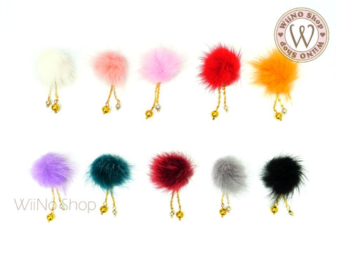 Fur Pom Pom Magnet Nail Art Dangle Charm