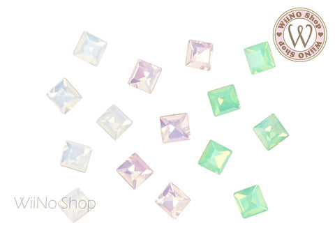 6mm Opal Square Point Back Crystal - 5 pcs