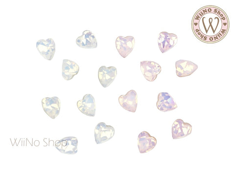 5mm Opal Heart Point Back Crystal - 5 pcs