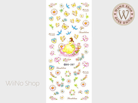 Thumbelina Water Slide Nail Art Decals - 1 pc (DS-287)