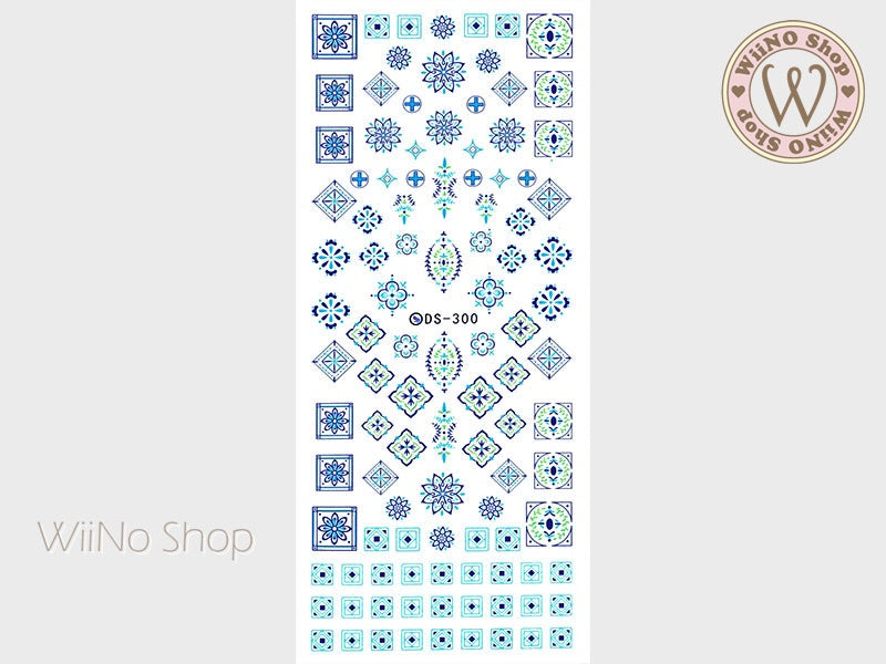 Arabesque Pattern Water Slide Nail Art Decals - 1 pc (DS-300)
