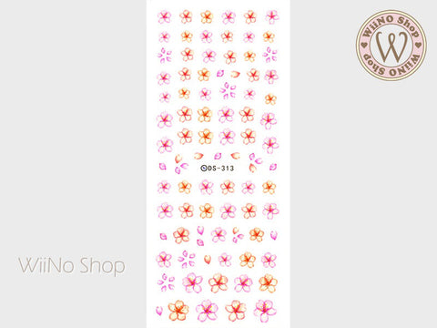 Cherry Blossom Water Slide Nail Art Decals - 1 pc (DS-313)