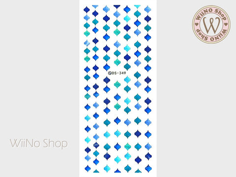 Moroccan Tile Water Slide Nail Art Decals - 1 pc (DS-300)