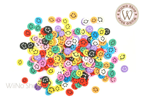 Happy Face Mixed Polymer Fimo Slices Nail Art Decoration
