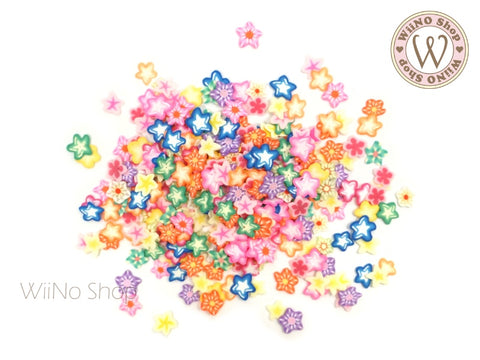Star Mixed Polymer Fimo Slices Nail Art Decoration