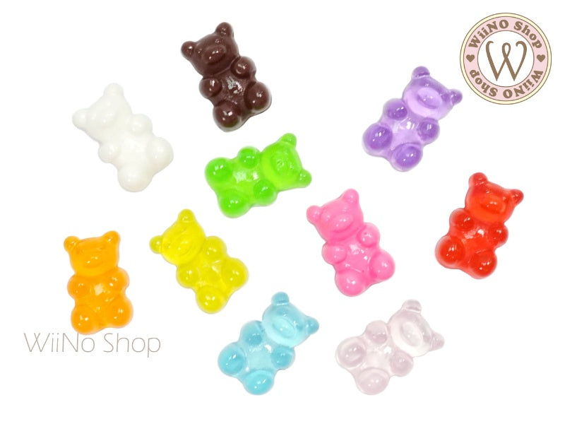 Gummy Bear Candy Cabochons - 10 pcs