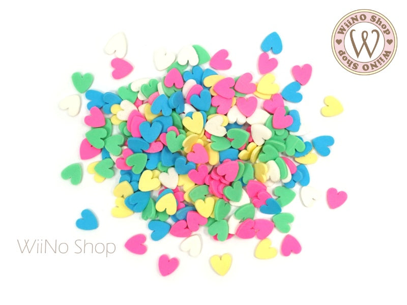 Colorful Heart Mixed Polymer Fimo Slices Nail Art Decoration