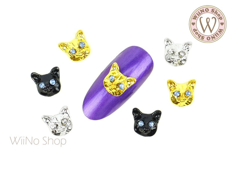Kitty Cat Nail Metal Charm - 2 pcs