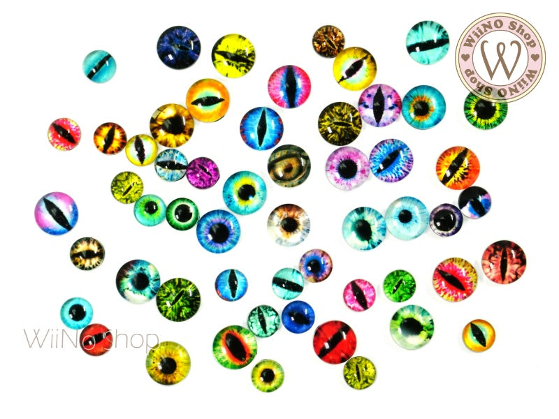 Glass Eye Mixed Nail Art Decoration - 10 pcs