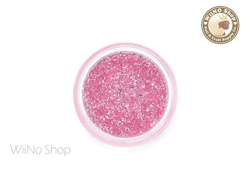 Pink Round Point Back Micro Crystal
