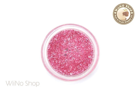 Pink Rose Round Point Back Micro Crystal