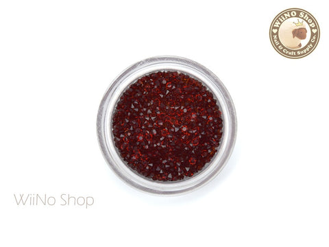 Dark Red Round Point Back Micro Crystal