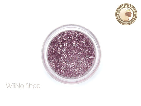 Purple Round Point Back Micro Crystal