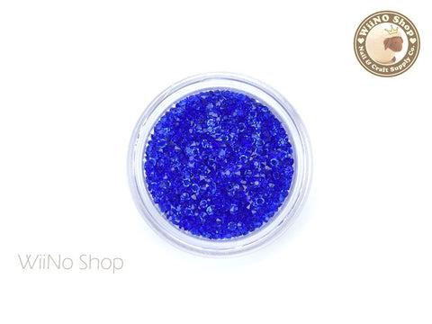 Royal Blue Round Point Back Micro Crystal