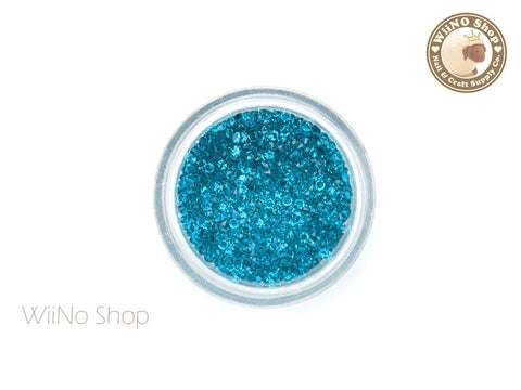 Turquoise Round Point Back Micro Crystal