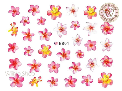 E801 Plumeria Adhesive Nail Art Sticker - 1 pc