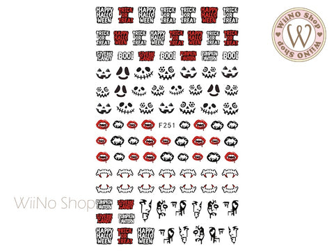 Vampire Halloween Adhesive Nail Art Sticker - 1 pc (F251)