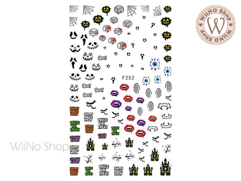 Halloween Horror Adhesive Nail Art Sticker - 1 pc (F252)