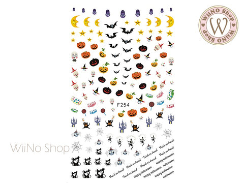 Trick or Treat Halloween Adhesive Nail Art Sticker - 1 pc (F254)