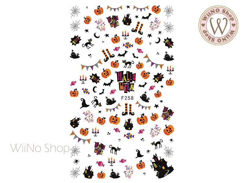 Halloween Party Adhesive Nail Art Sticker - 1 pc (F258)