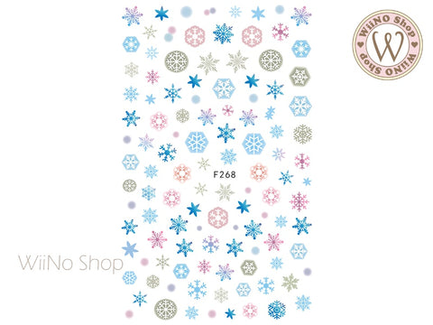 Frozen Snowflake Adhesive Nail Art Sticker - 1 pc (F268)
