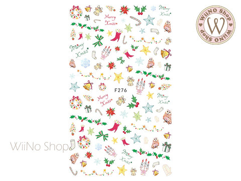 Christmas Elements Adhesive Nail Art Sticker - 1 pc (F276)