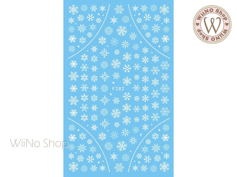 White Snowflake Adhesive Nail Art Sticker - 1 pc (F282W)