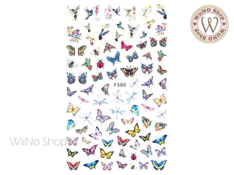 Butterfly Adhesive Nail Art Sticker - 1 pc (F580)