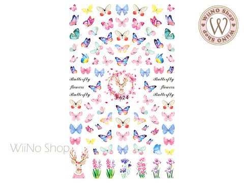 Butterfly Adhesive Nail Art Sticker - 1 pc (F624)
