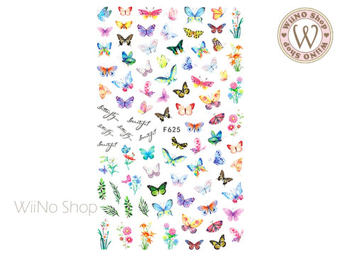 Butterfly Adhesive Nail Art Sticker - 1 pc (F625)