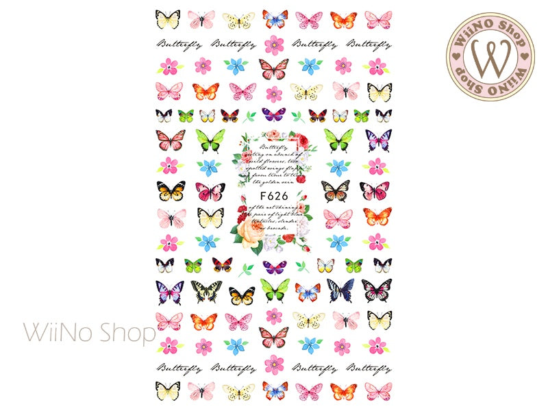 Butterfly Adhesive Nail Art Sticker - 1 pc (F626)