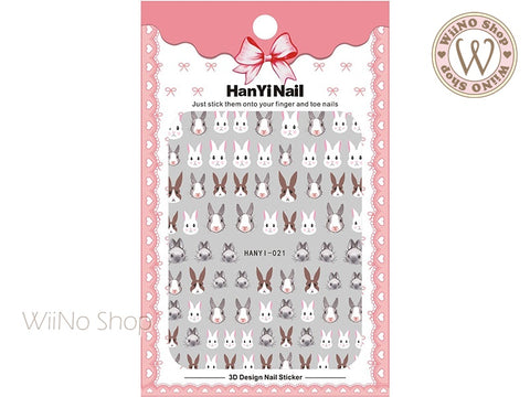 Cute Rabbit Adhesive Nail Art Sticker - 1 pc (HY-021)