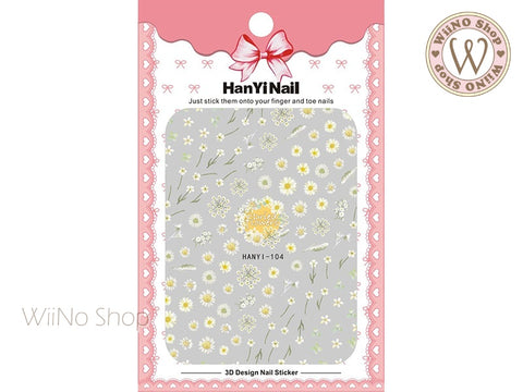 Dried Flowers Adhesive Nail Art Sticker - 1 pc (HY-104)