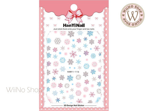 Pastel Snowflake Adhesive Nail Art Sticker - 1 pc (HY-116)
