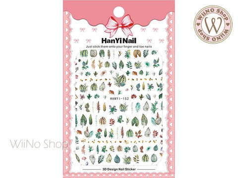 Leaves Adhesive Nail Art Sticker - 1 pc (HY-152)
