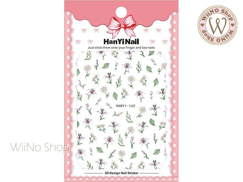 Chamomile Lily Flower Adhesive Nail Art Sticker - 1 pc (HY-162)