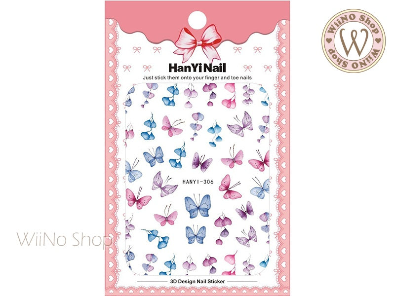 Butterfly Adhesive Nail Art Sticker - 1 pc (HY-306)