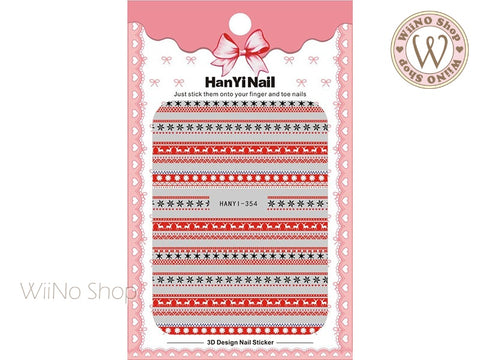 Winter Sweater Pattern Adhesive Nail Art Sticker - 1 pc (HY-354)