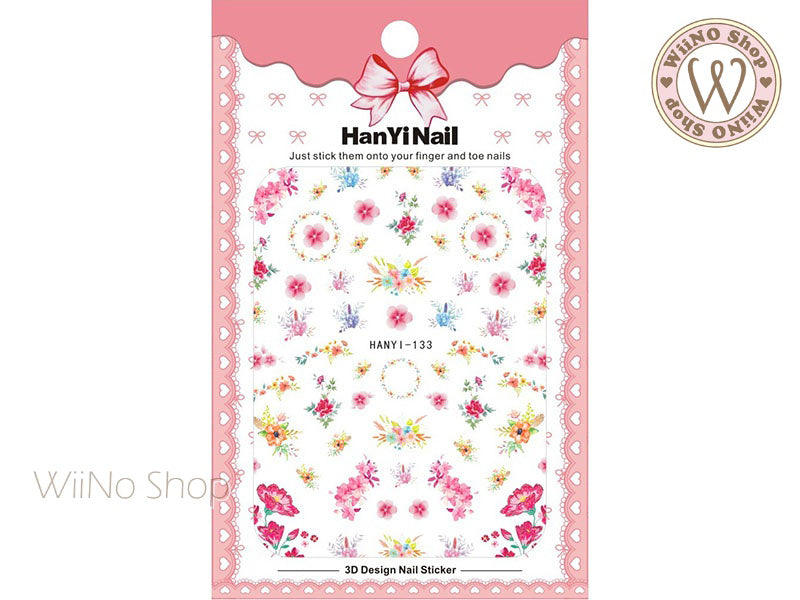 Delicate Flower Adhesive Nail Art Sticker - 1 pc (HY-133)