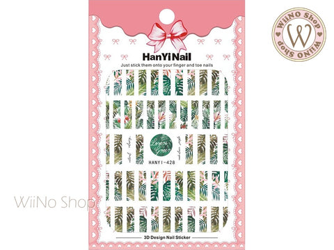 Palm Tree Stripe Adhesive Nail Art Sticker - 1 pc (HY-428)