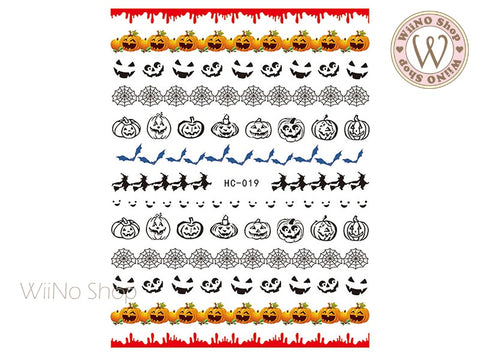Halloween Adhesive Nail Art Sticker - 1 pc (HC-019)