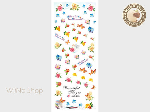 Vintage Flower Water Slide Nail Art Decals - 1pc (HOT-273)