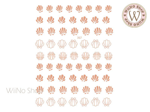 Rose Gold Seashell Adhesive Nail Art Sticker - 1 pc (JO-367)