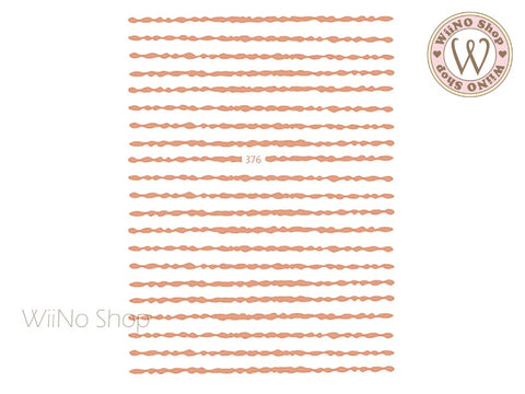 Rose Gold Brush Line Adhesive Nail Art Sticker - 1 pc (JO-376)