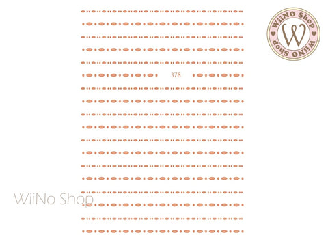 Rose Gold Marquise Dotted Line Adhesive Nail Art Sticker - 1 pc (JO-378)
