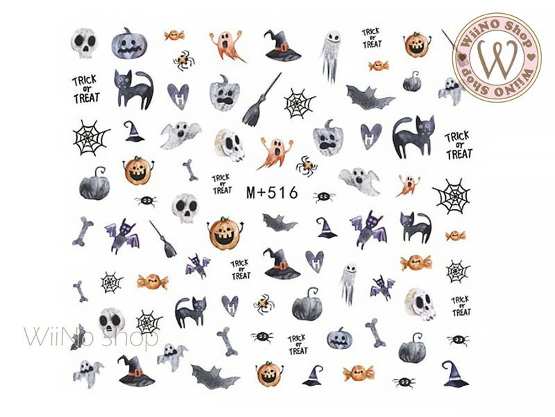 M+516 Halloween Water Slide Nail Art Decals - 1pc