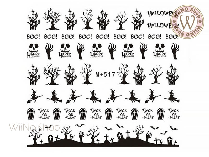 M+517 Halloween Water Slide Nail Art Decals - 1pc