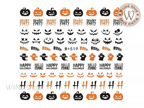 M+519 Halloween Water Slide Nail Art Decals - 1pc