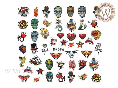 M+696 Tattoo Art Water Slide Nail Art Decals - 1pc