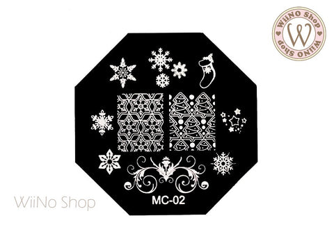 MC-02 Nail Art Stamping Plate Template